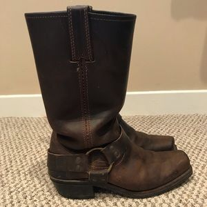 Vintage Frye harness boots - made in USA